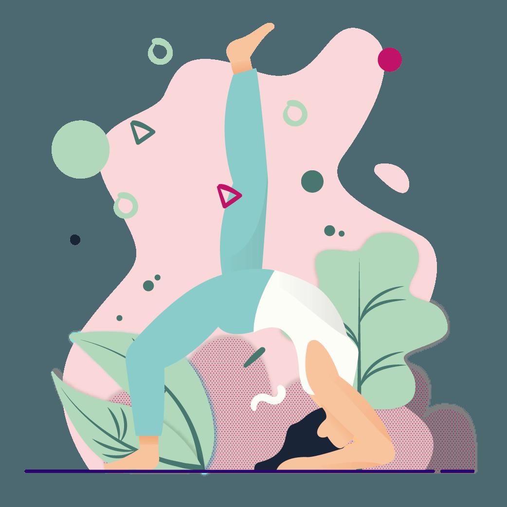 picto femme yoga