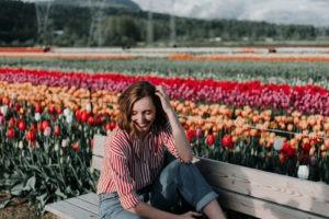 sourire fleur