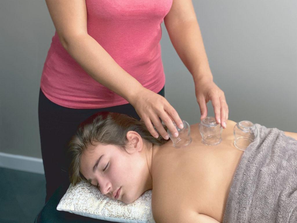 Massage Tui Na ventouse